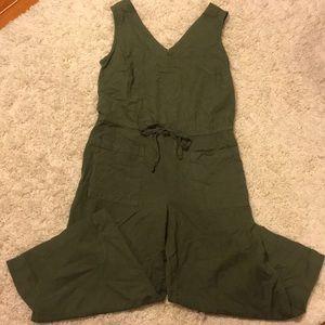 Green Wide-legged Jumpsuit